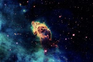 digital art stars space art galaxy nebula space