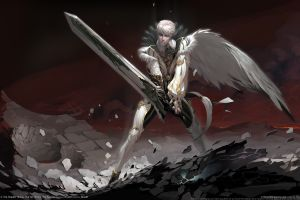 digital art sword video games