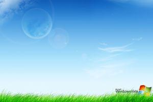 digital art windows vista microsoft grass