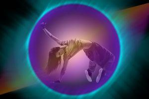 digital toning women colorful dancing