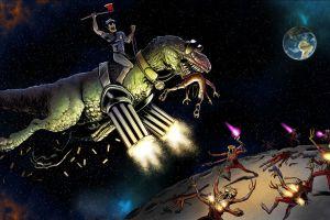 dinosaurs space humor