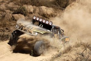 dirt racing buggy vehicle brown sand dust rally car