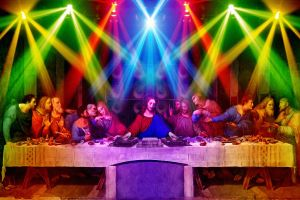disco parody the last supper turntables