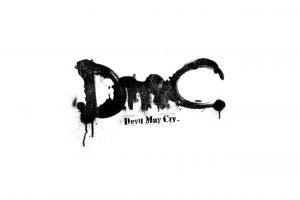 dmc: devil may cry white background monochrome video games simple background