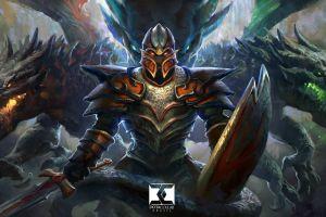 dota 2 armored creature pc gaming fantasy art warrior