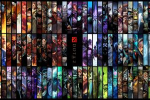 dota 2 video games hero collage