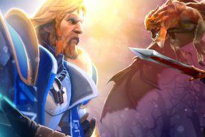 dota 2 warrior creature pc gaming video games armour fantasy men
