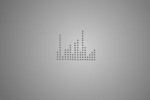 dots digital art gray simple background simple minimalism