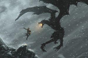 dovahkiin dragon alduin dragonborn video games the elder scrolls v: skyrim the elder scrolls v: skyrim