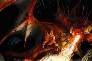 dragon creature fire fantasy art