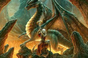 dragon fantasy girl fantasy art