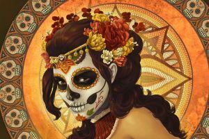 drawing artwork traditional art dia de los muertos