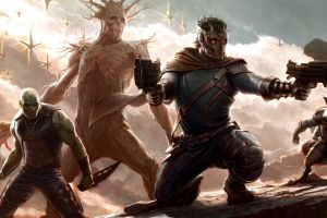 drax the destroyer star lord guardians of the galaxy groot