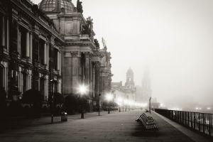 dresden monochrome lights cityscape