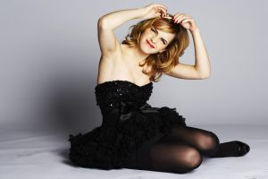 dress actress celebrity red lipstick blonde women emma watson armpits