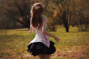 dress back bare shoulders women outdoors women