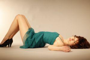 dress women see-through clothing susan coffey green dress