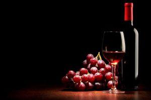 drink black background wine grapes bottles fruit