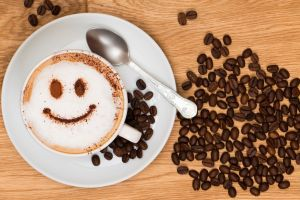 drink spoon smiley coffee coffee beans cup