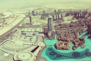 dubai cityscape aerial view