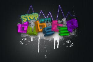 dubstep paint splatter typography digital art colorful music