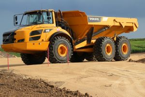 dump trucks vehicle construction vehicles dirt volvo a40f