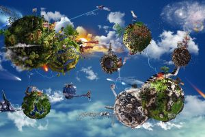 earth planet digital art