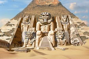 eddie pyramid band mascot egypt fantasy art album covers