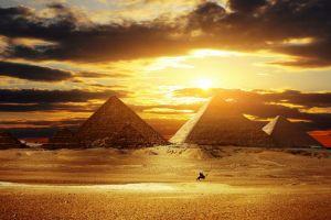 egypt pyramid sunset desert sunlight