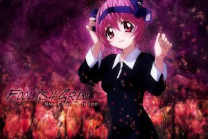 elfen lied pink hair nana anime red eyes anime girls