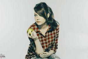 emma stone apples women redhead