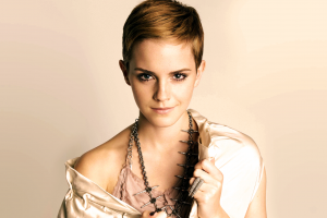 emma watson actress short hair women