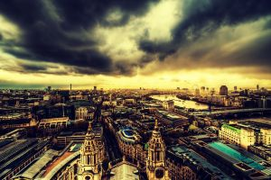 england cityscape city london sky clouds