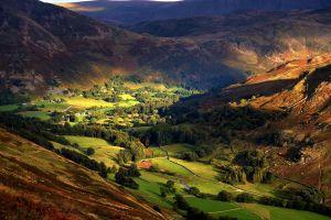 england landscape hills nature