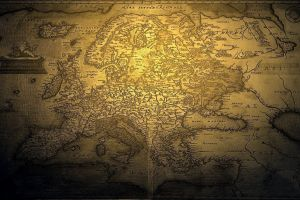 europe map vintage world map