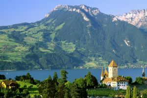 europe mountains cityscape landscape