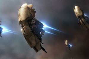 eve online amarr spaceship video games