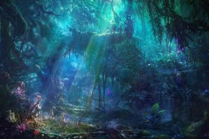 exotic jungle fantasy art artwork concept art