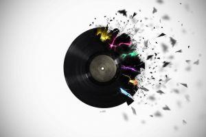 explosion digital art vinyl colorful