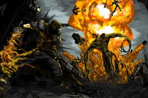 explosion fallout 3 apocalyptic fallout video games