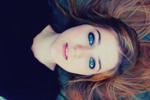 eyes model brunette blue eyes women face