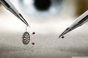 eyes photography miniatures humor macro darts arrows