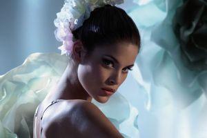 face brunette looking at viewer model jenna pietersen women