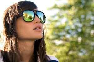 face glasses women outdoors portrait