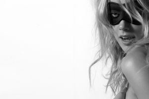 face women blonde simple background amber heard side view monochrome