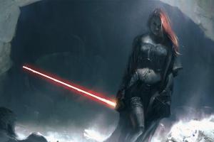 fan art laser swords women concept art redhead fantasy art lightsaber artwork star wars mara jade