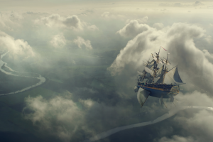 fantasy art airships artwork sailing ship concept art