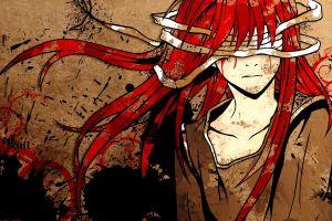 fantasy art anime girls face anime redhead long hair