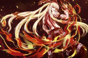 fantasy art anime long hair looking back looking at viewer