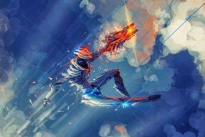 fantasy art anime sky